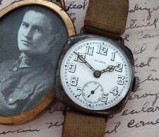 Men's WWI Sterling Patria Wire Lug Trench Watch w/Original Strap - SERVICED