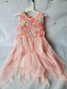 NWT Cat & Jack Girls Powder Pink Floral Sleeveless Party Dress Size 5T