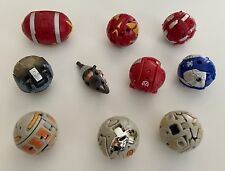 Bakugan Battle Brawlers Lot of 10 Transforming Figure Balls & Metal Cards, Set 2