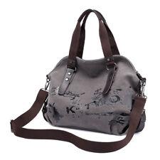 Women Messenger Bags Graffiti Canvas Handbags Travel Crossbody Shoulder Bag GJH