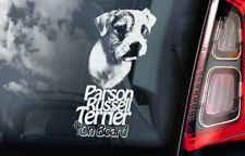 Parson Russell Terrier Car Sticker, Russel Dog Window Sign Decal Gift Pet- V01
