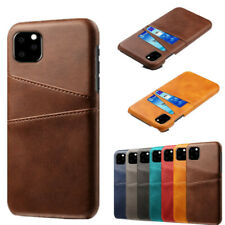 For iPhone 11 5.6 6.1 6.5'' XS XR 8 7 Leather Wallet Credit Card Slot Case Cover