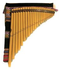 PROFESSIONAL  PAN FLUTE 23  PIPES  TUNED MI MINOR    FROM PERU