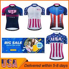 Mens Cycling Short Sleeve Jersey Breathable Bicycle Tops Clothing Shirt Us 2021