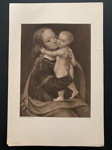 "Vintage 1924 Joos Van Cleef ""Maitre De La Mort De La Vierge"" Print"