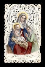 santino merlettato-holy card-canivet MARIA  E GESU' BAMBINO bouasse lebel