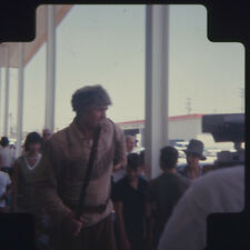 Fess Parker Candid Davy Crockett costume at event Original medium format Slide