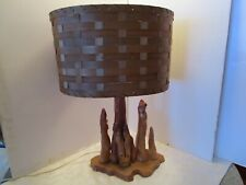 VTG CYPRESS KNEES WOOD LAMP SWAMP NATURE SCULPTURE TREE FREE FORM ROOT