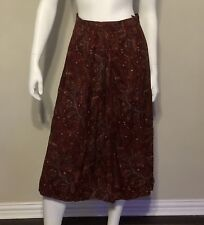 Vtg Augelo Ges.  Gesch Pleated Long Skirt Size 38
