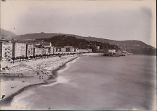 France, Nice, le Quai de Midi Vintage citrate print Tirage citrate  12x16