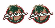 """Pair (2) Sahara Edition Jeep Stickers 4.5""""t by 5.5""""w Wrangler Set of 2 p70"""