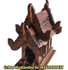 Geisterhaus,Teak braunes Geisteshäuschen,Thailand,GEWEIHT,Geisteshäuschen,NEU,