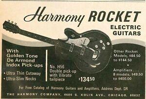 1966 HARMONY ROCKET GUITAR VINTAGE PRINT AD