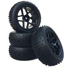 Buggy Reifen Felgenset X-SPIKE mit 5-Sternfelge schwarz 1:10 4 Stück partCore 32