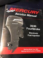 Mercury Marine Outboard Service Manual 30/40 FourStroke 90-883064R01