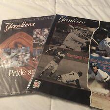 Lot of 2 New York Yankees 1987 1988 Yearbooks