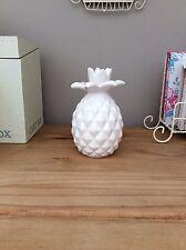 White Ceramic Pineapple Ornament Bedroom Lounge Dining Room Kitchen Garden