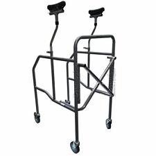 Girello deambulatore ascellare pieghevole 4 ruote per anziani disabili Moretti