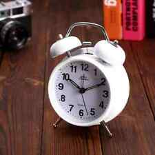 Analog Twin Bell Alarm Clock Vintage Retro Classic Bedroom Backlight Loud Wake