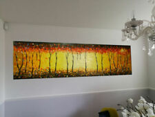 Large (up to 60in.) Yellow Original Art Paintings