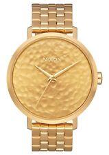 NIB Nixon Arrow Watch Gold Hammered A1090-2710
