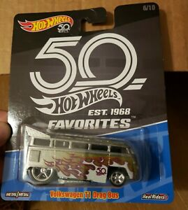 HOT WHEELS 2018 50th ANNIV FAVORITES 6/10 VOLKSWAGEN T1 DRAG BUS