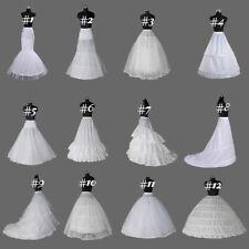 Hot White Crinoline/Petticoat Slips Underskirt A Line/Mermaid Hoops For Wedding