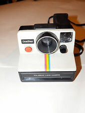 Vintage Polaroid SX-70 One Step White Rainbow Stripe Instant Land Camera