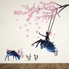 Romantic Fairy Girl Wall Sticker 3D Decal Wallpaper Bedroom Sofa Decor For Kids