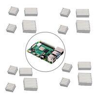 Aluminum Heatsink 16PCS Radiator Cooler Kit with Sticker Raspberry Pi 4B New