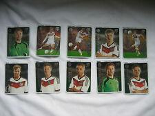 10 Team-Sticker Sammelbilder von Ferrero Fußball WM 2014 Nr.: 1,13,18,19,20,55