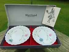 Two Vtg Haviland France Limoges Butter Dishes In Box 1842 w/ Paper