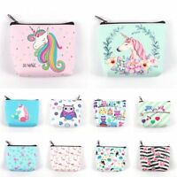 Women Mini Unicorn Coin Purse Flamingo Wallet Card Holder Earphone Package Bags