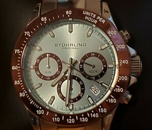Stuhrling Original Men's Monaco Watch, New in box