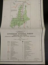 Usda National Forest Service Map Bitterroot Montana Idaho 1972