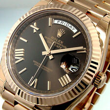 ROLEX 228235 DAY DATE PRESIDENTIAL 40 mm 18K PINK EVEROSE GOLD CHOCOLATE BROWN