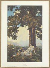 Maxfield Parrish  Hilltop  Portal Publication  Vintage Lithographic Medium Size