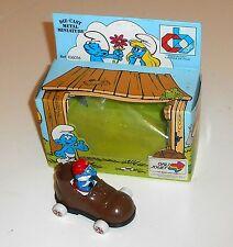 Vintage 1983 Peyo Smurfs - DIECAST METAL MINIATURE - Boxed MIB (A7)