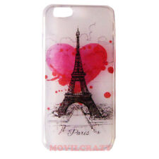 "FUNDA CARCASA CASE GEL TPU DIBUJO PARA IPHONE 6 4.7"" TORRE EIFFEL CORAZON"