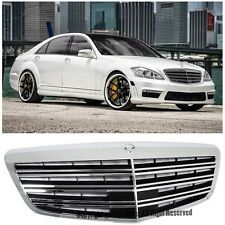 For 07-13 Mercedes Benz W221 S-Class Front Bumper Hood AMG Style Chrome Grille