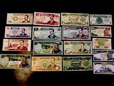 SADDAM HUSSEIN IRAQ/IRAQI DINAR PAPER MONEY BANKNOTE LOT (17 Nots)