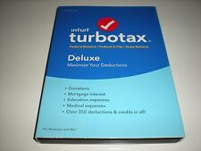 Turbotax 2016 Deluxe. Federal and State + Federal E-file. New in sealed box.