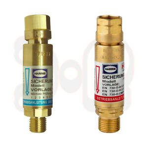 HARRIS Rückschlagsicherung Sauerstoff/Acetylen(Propan) SET Explosionsschutz Gas
