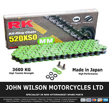 BMW S 100 RR 2019 Green RK X-Ring Chain 520 Conversion 120 Link