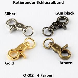 Schlüsselbund mit drehbarem Abzugshaken, Gepäckzubehör in 4 Farben