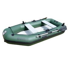 7.5ft Inflatable Boat Raft Fishing Dinghy Tender Pontoon Boat with alloy oars