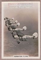Pre-WWII RAF Gloster Gauntless Planes Formation Flying 1930s Trade Ad Card