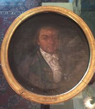 18C OIL PAINTING OF THOMAS HILL OVAL GOLDLEAF FRAME