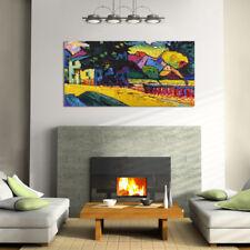 Quadro moderno Stampa su Tela Cotone cm.120x60 Astratto Kandinsky C Arredo Casa