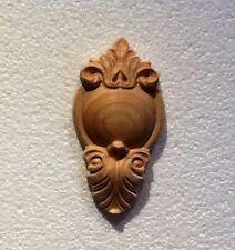 "Hand Carved Solid Cherry Applique/Onlay 4-5/8"" x 2-3/8"""